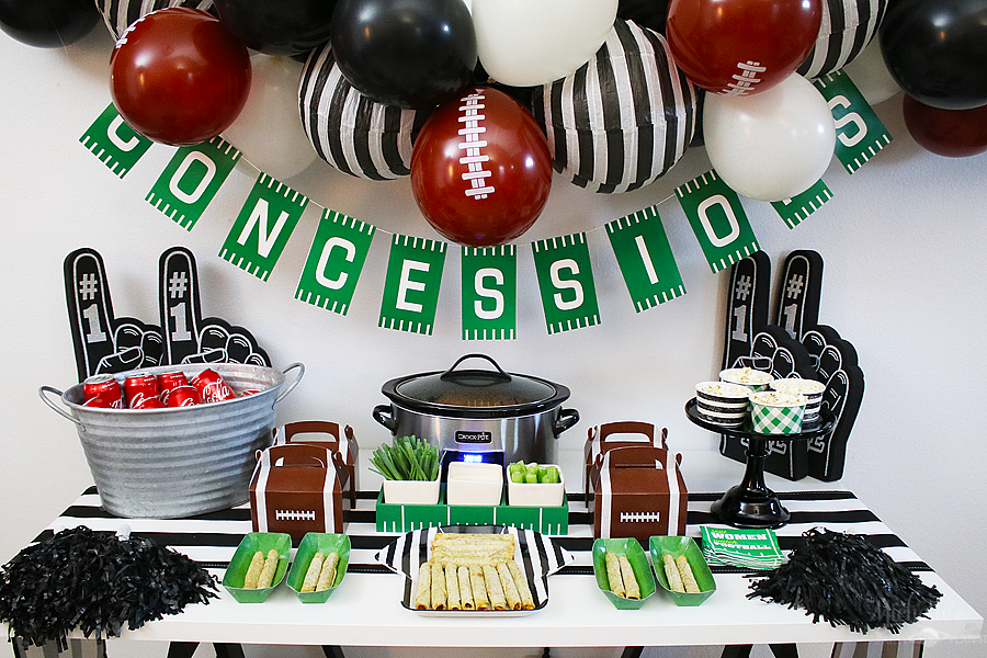 Football Party Tablescape