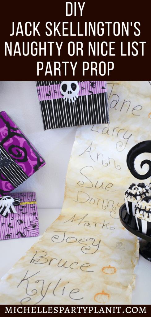 DIY Jack Skellington's Naughty or Nice List