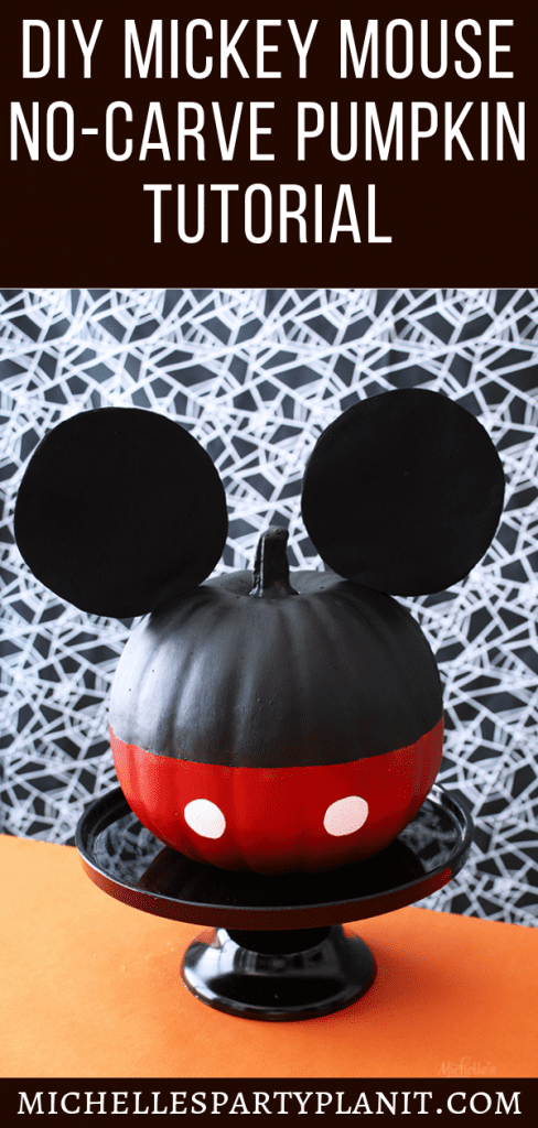 Diy mickey mouse pumpkin