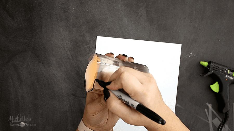 DIY XRAY HALLOWEEN CANDLE tracing