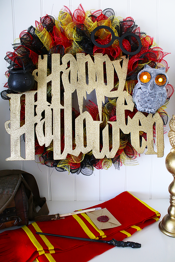 Dollar Tree Halloween Harry Potter Wreath