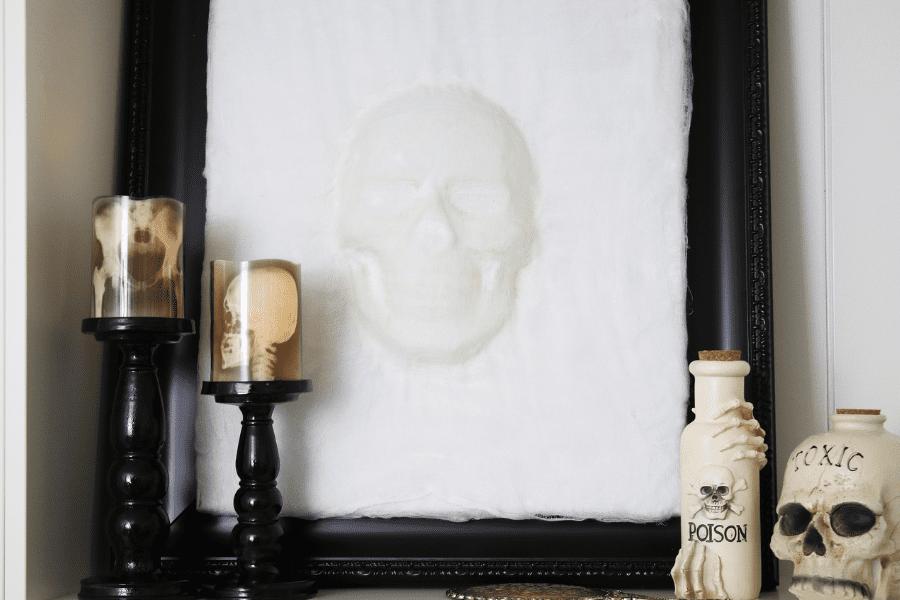 DIY 3D Skull Wall Art
