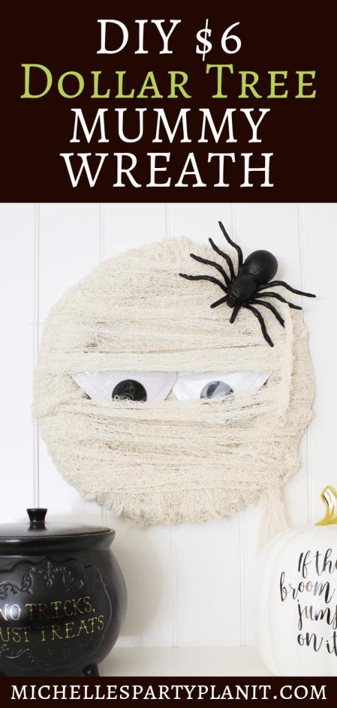 DIY Dollar Store Mummy Wreath