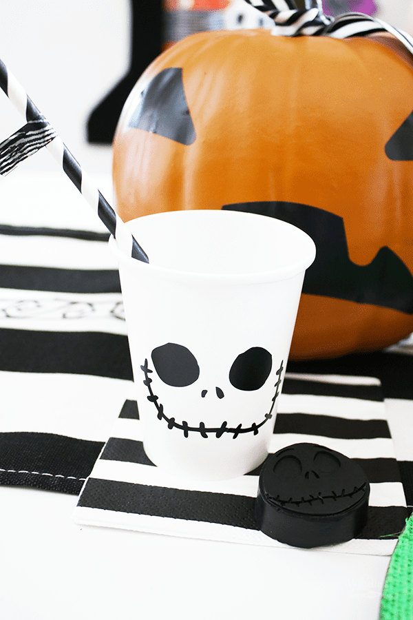 DIY Jack Skellington Party Cups