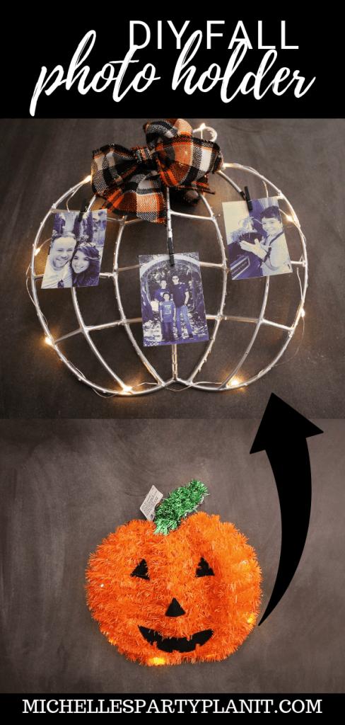 DIY PHOTO HOLDER FROM $1 Halloween Decoration