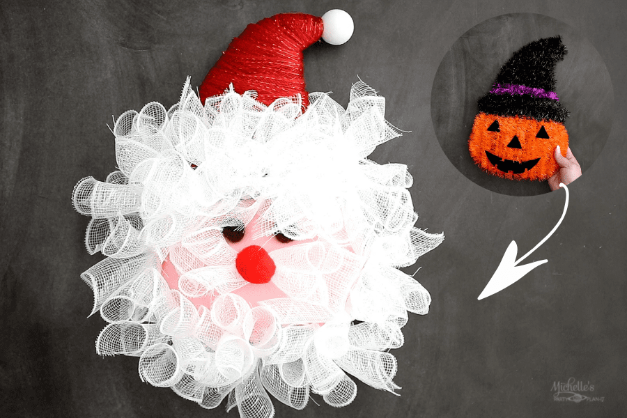 DIY Santa Wreath