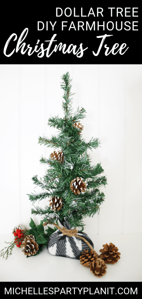 How To Make A Farmhouse Christmas Tree From A 1 Tree Michelle S Party Plan It