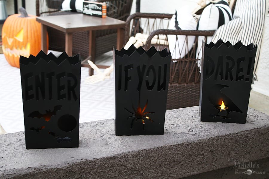 Easy Halloween Porch Decor Ideas - Luminaries