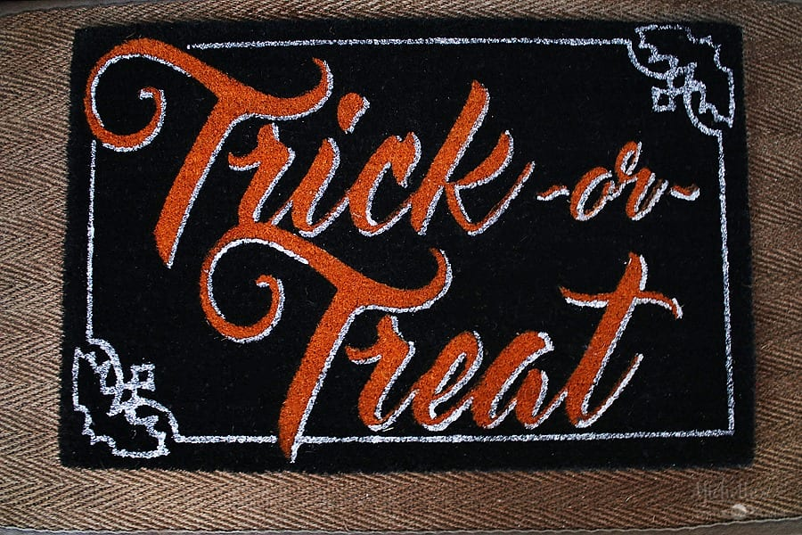 Easy Halloween Porch Decor Ideas - Door Mat