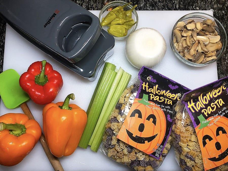 Halloween Pasta Salad Recipe - Ingredients