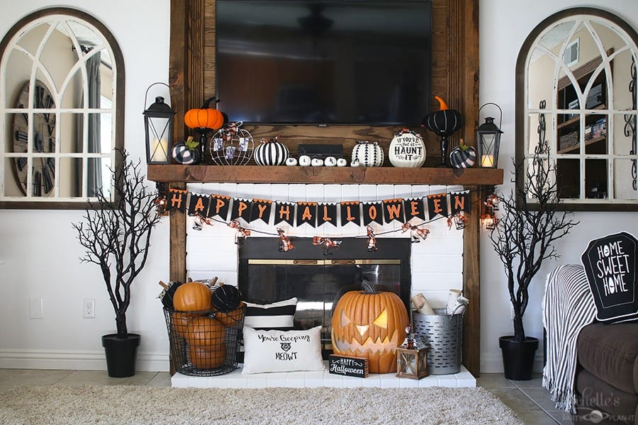 Haunted Hearth Halloween Mantle Decor Ideas Michelle S Party