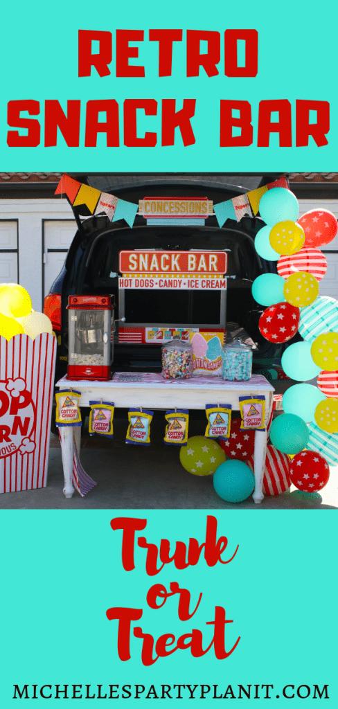Retro Snack Bar Trunk or Treat