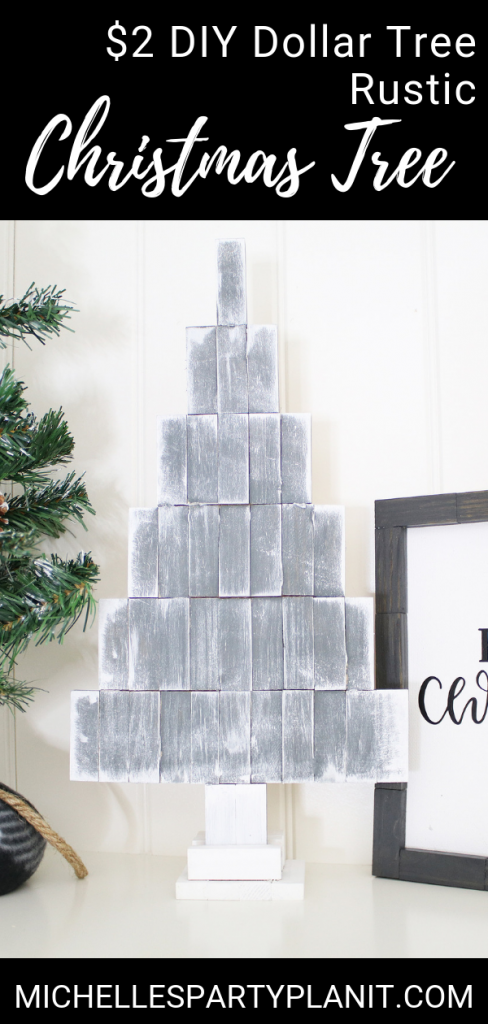 Rustic Christmas Tree Dollar Tree DIY