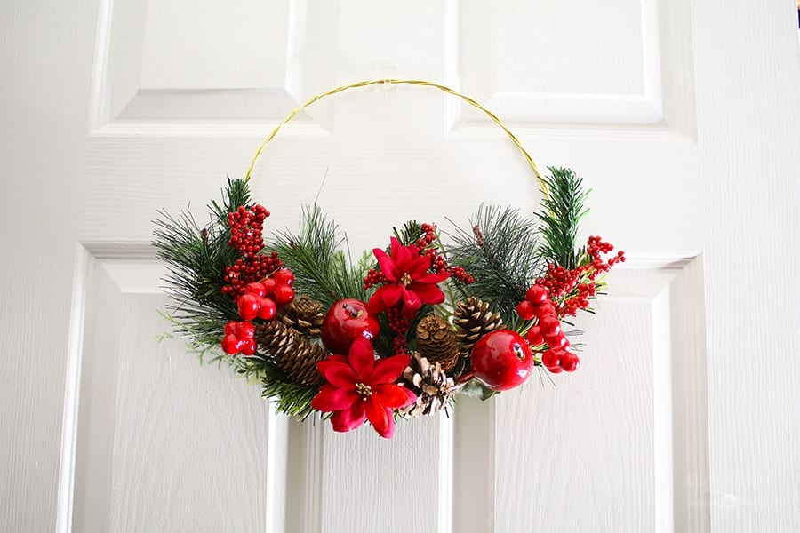 Diy Hoop Christmas Wreath Dollar Tree Diy Michelle S Party Plan It