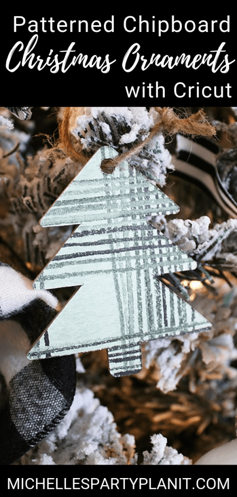 How to make patterned chipboard christmas ornaments with cricut