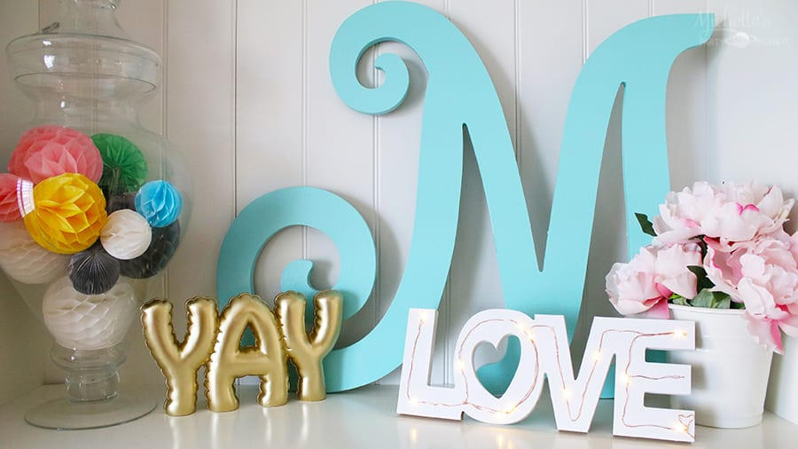 Diy tabletop love sign 4