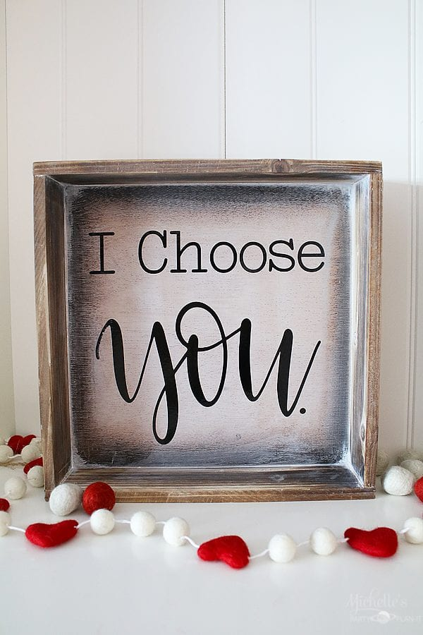I choose you diy sign