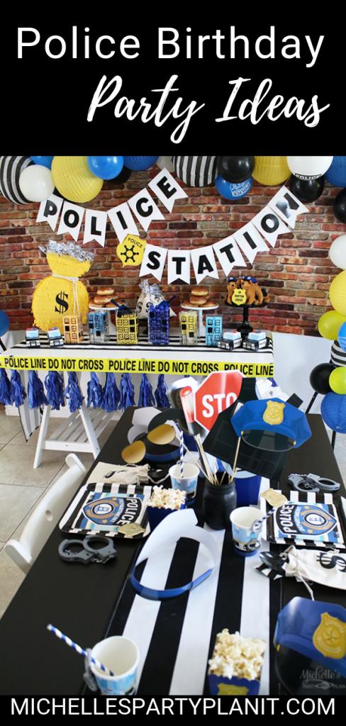 Police birthday party ideas 1