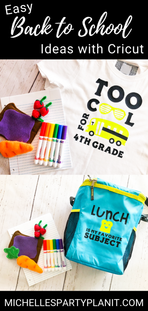 Easy back to school ideas with cricut