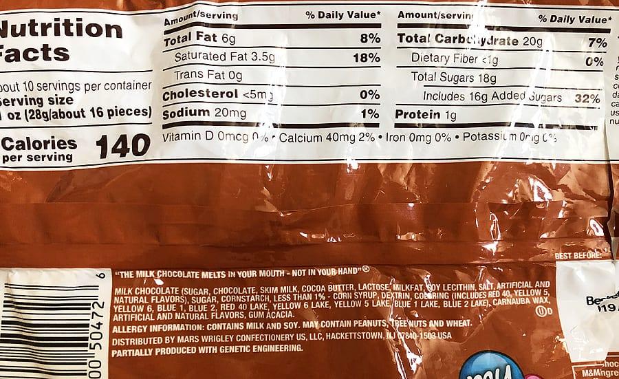 Pecan mms nutritional info