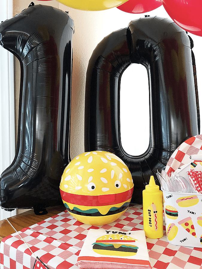 Burger bash birthday party