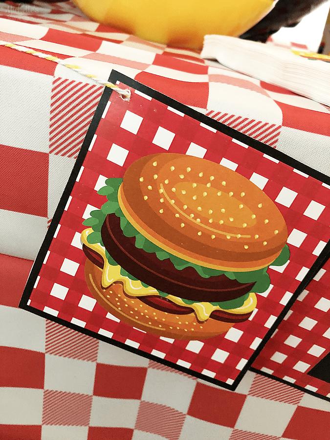 Burger party printables