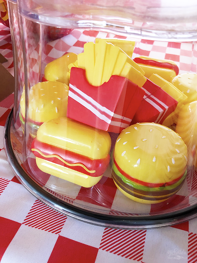 Burgers and hot dog easter eggs