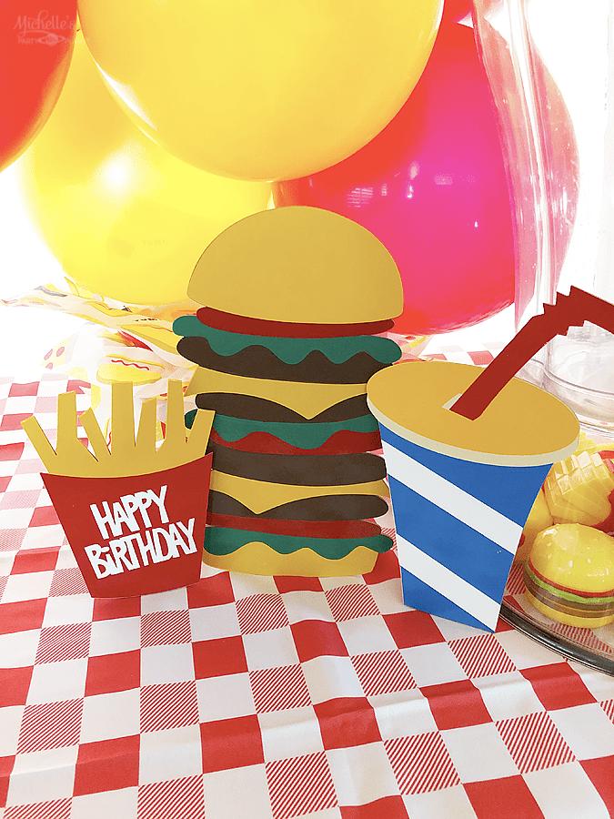 Diy burger party decorations