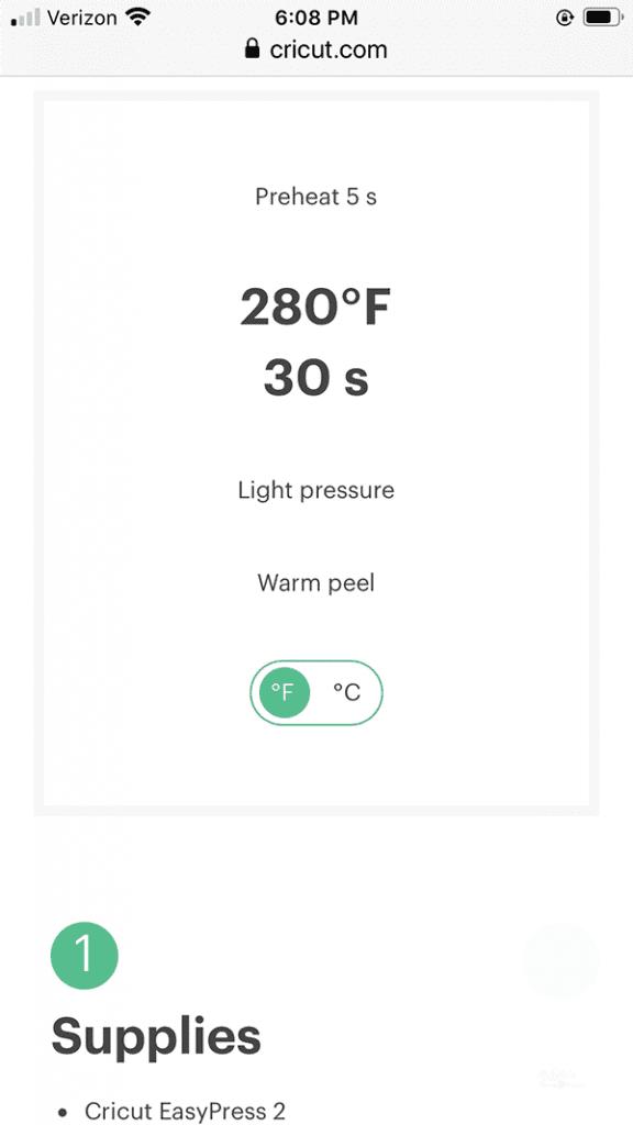 Easypress setting guide for felt