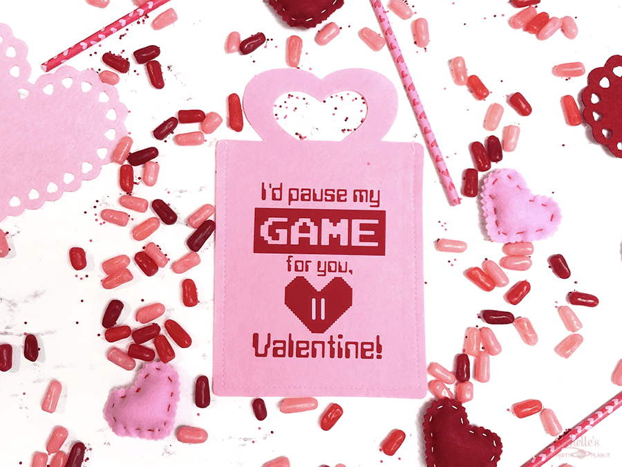 Gamer valentine treat bag
