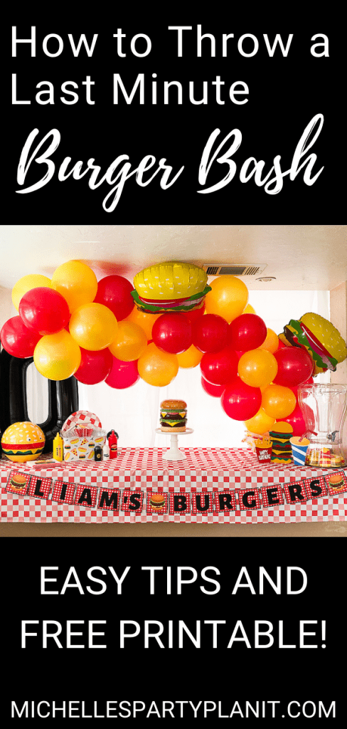 How to throw a last minute burger bash