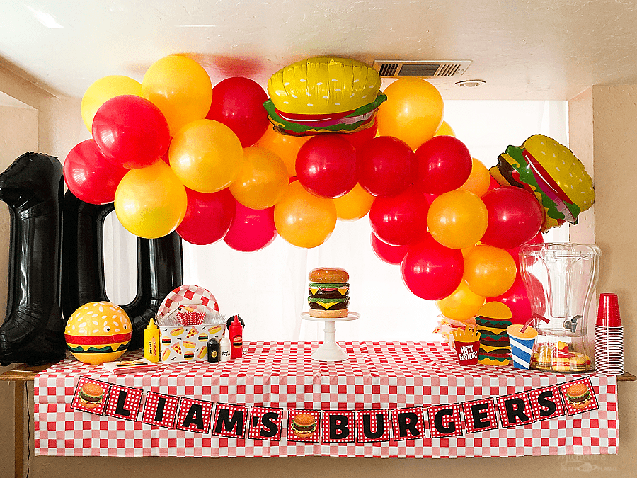 How to throw a simple burger themed birthday party