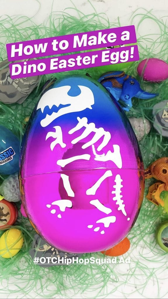 Diy dinosau egg easter basket step 2