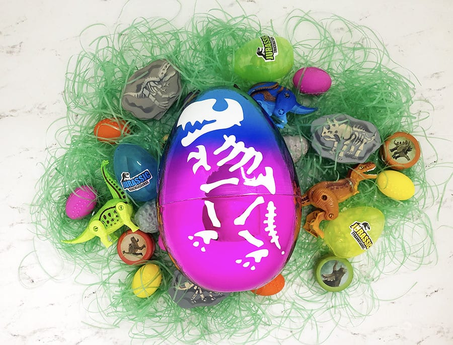 Diy dinosaur egg easter basket