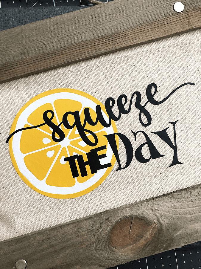 Diy squeeze the day sign