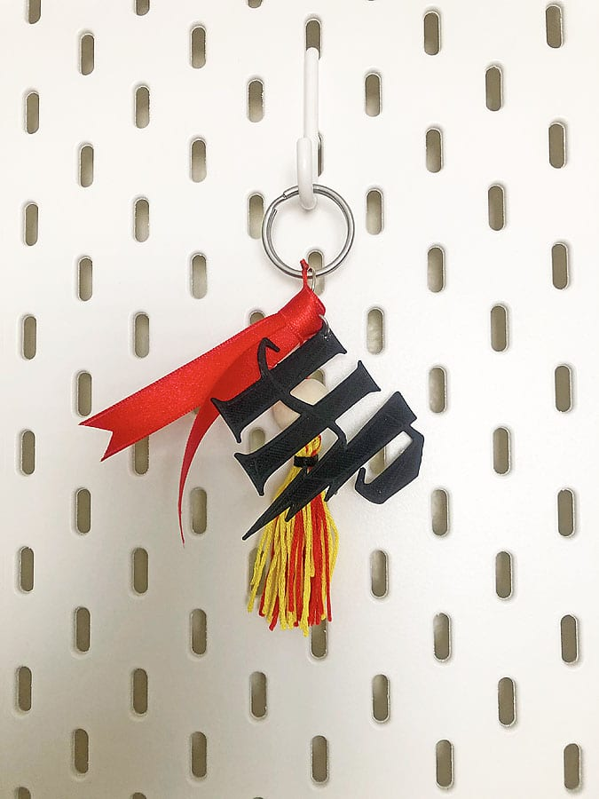 Harry potter hanging keychain