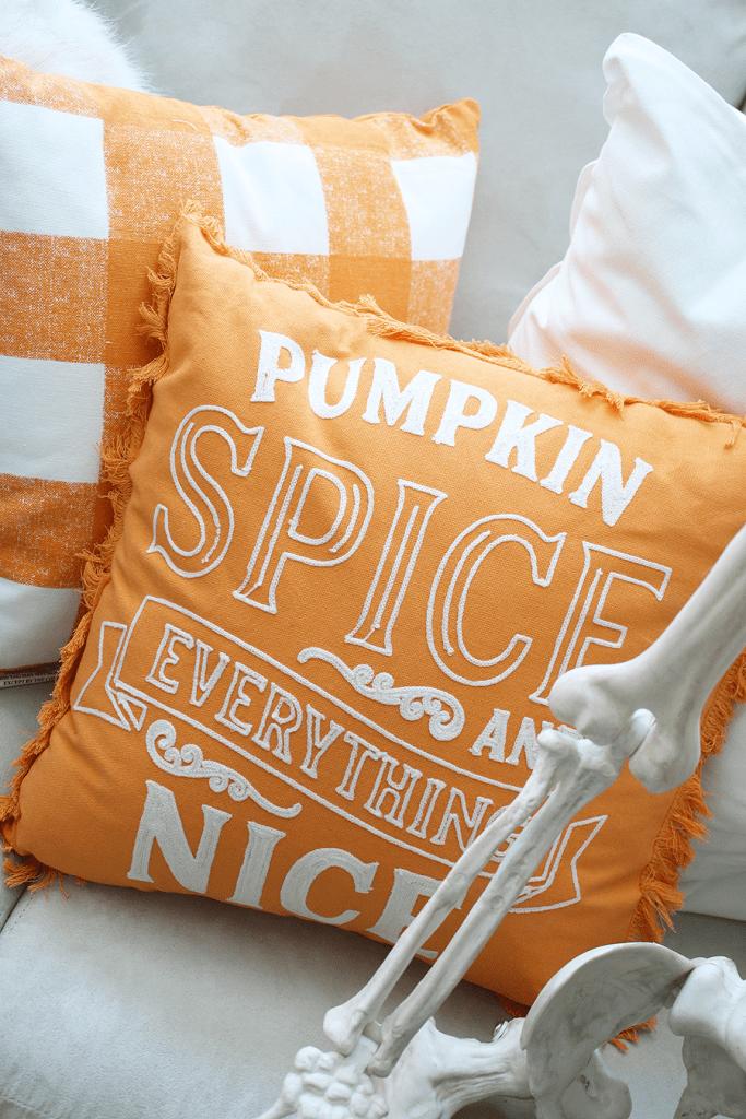 Pumpkin spice pillows