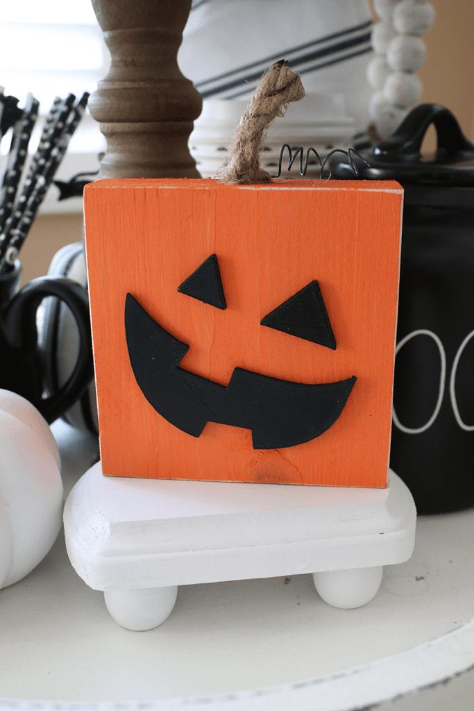 Pumpkin wood block