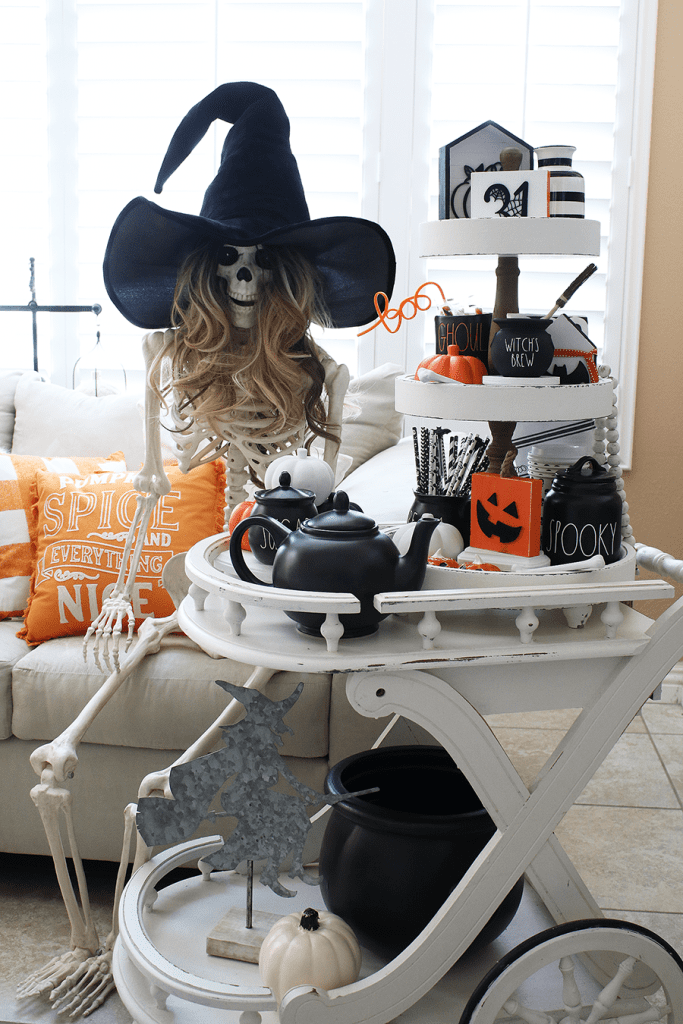 Witches brew coffee cart ideas