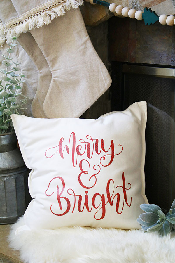 merry and bright pillow cover resized