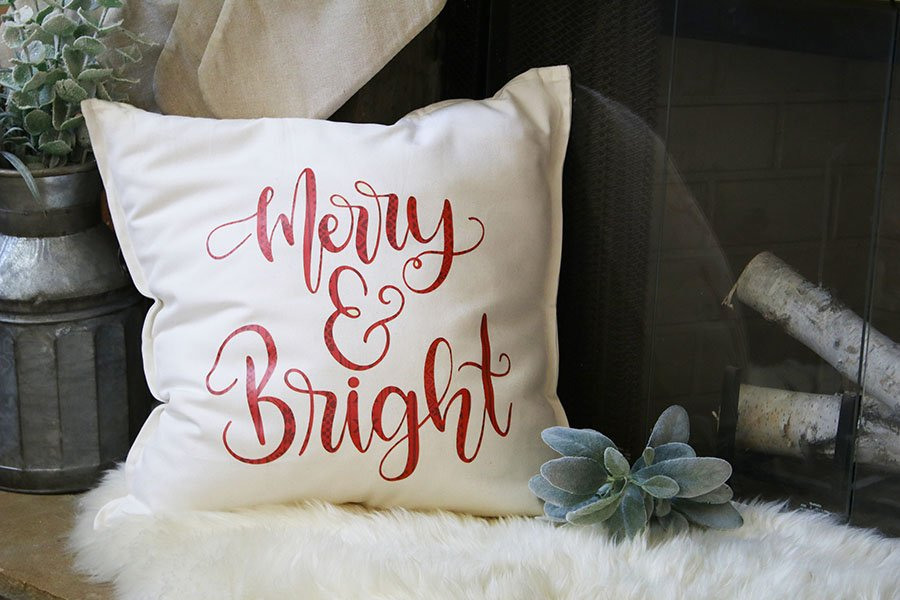 merry and bright pillow resized
