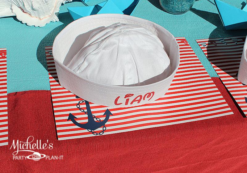 DIY personalized sailor hats