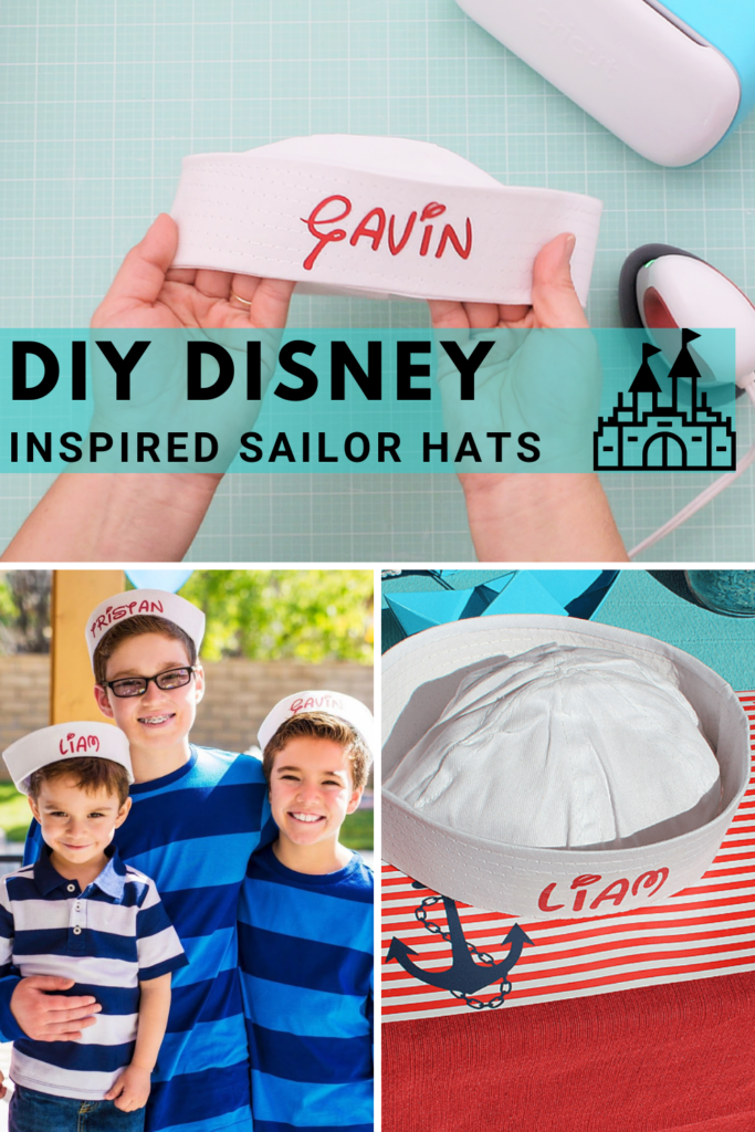 diy disney inspired sailor hats personalized