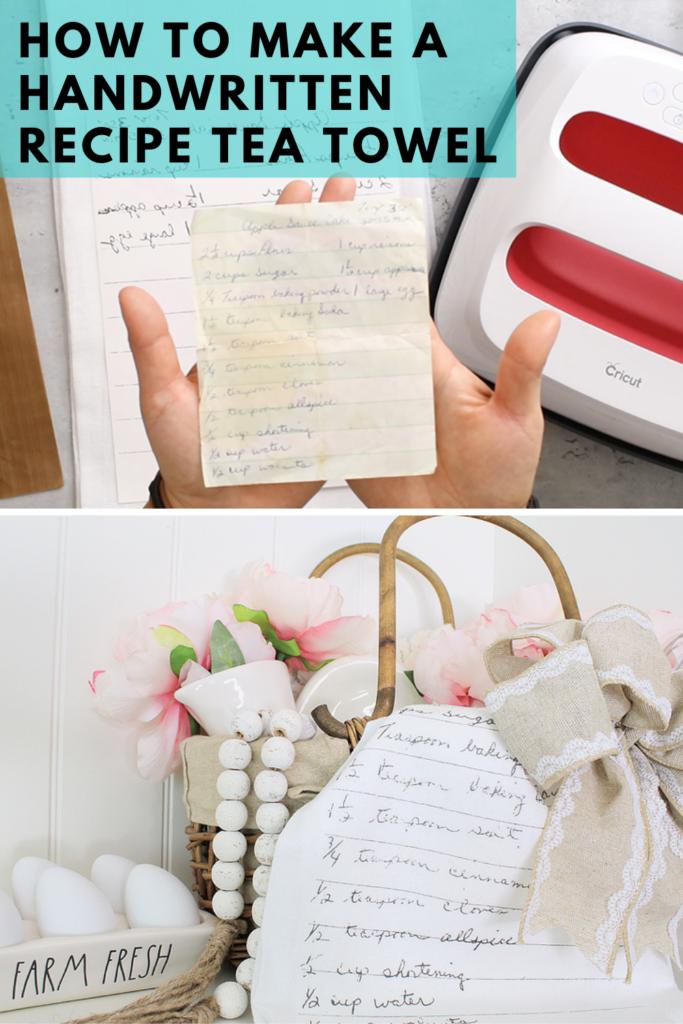 HOW TO MAKE A HANDWRITTEN RECIPE TEA TOWEL