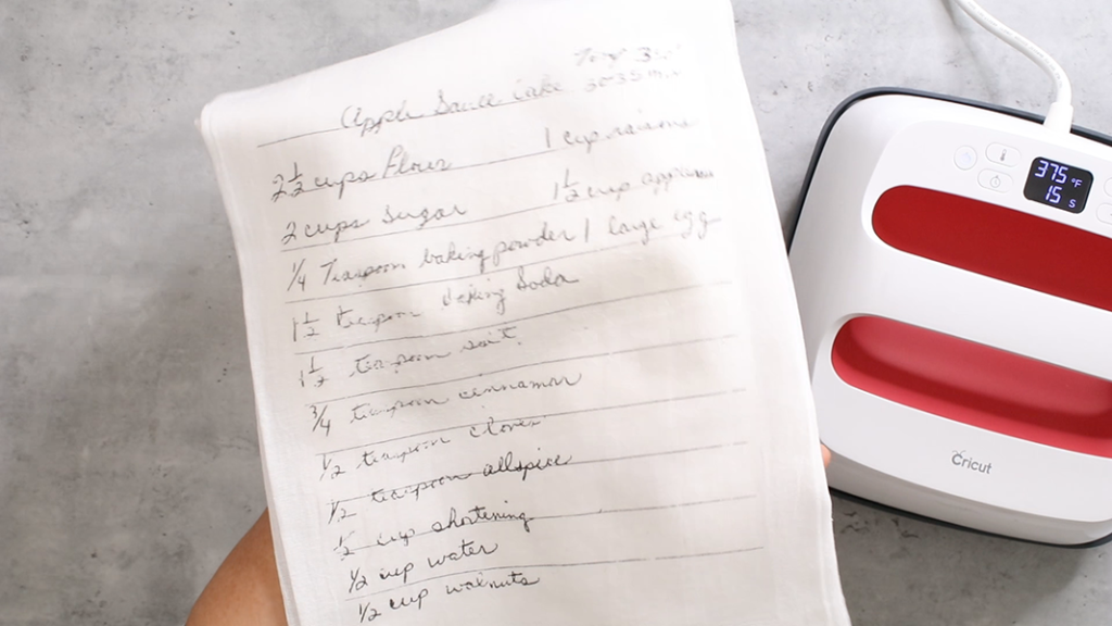 how to add a recipe to a tea towel 5