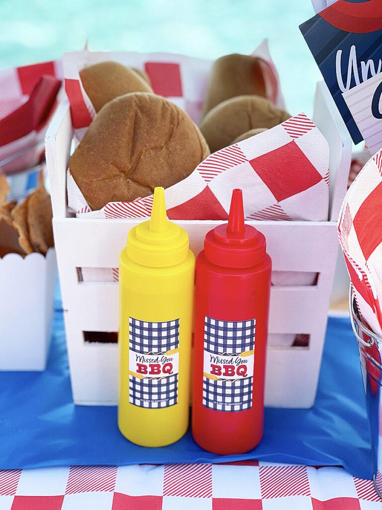 bbq ketchup mustard