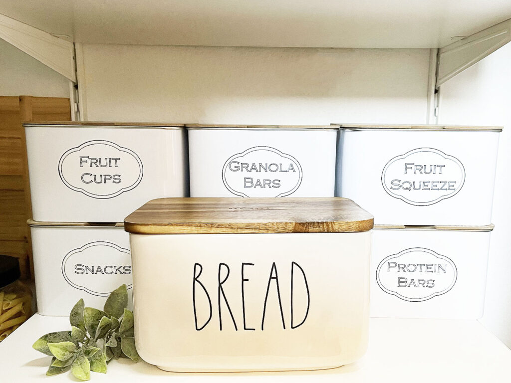 diy pantry bins