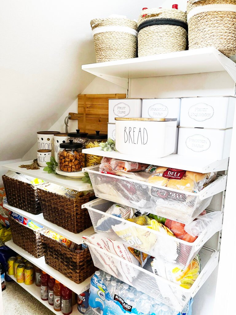 pantry under the stairs organization 1