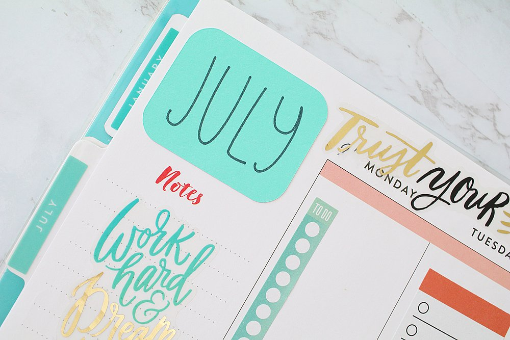 diy planner stickers with cricut