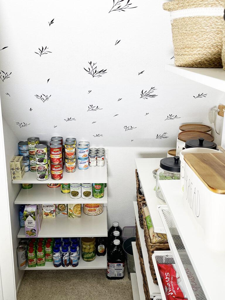diy pantry wallpaper